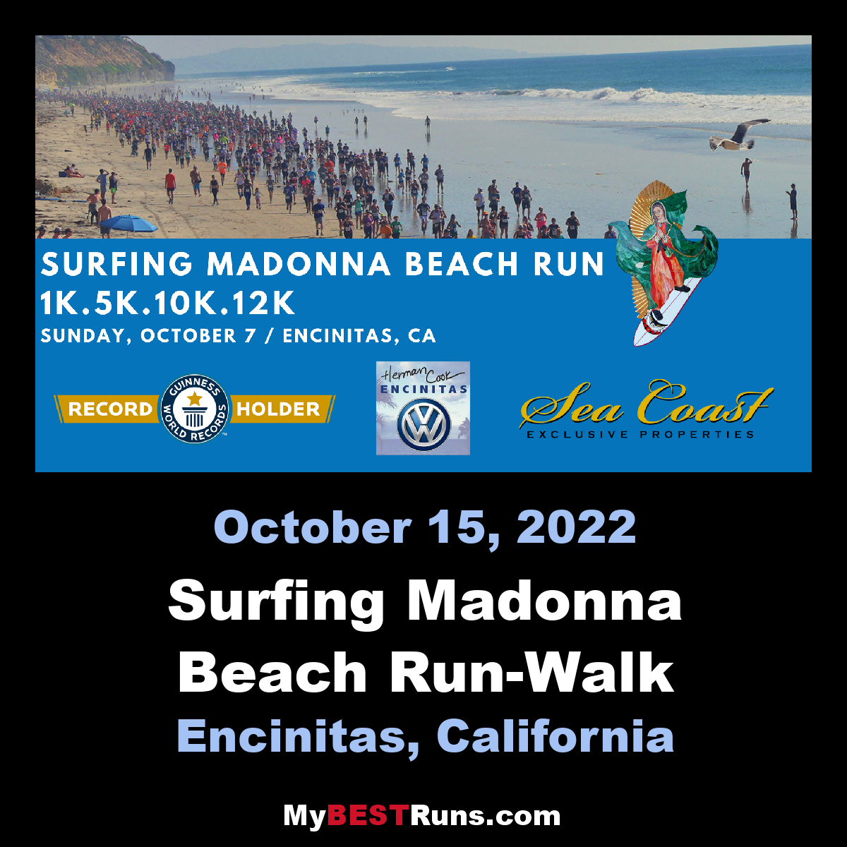 Surfing Madonna Beach Run-Walk