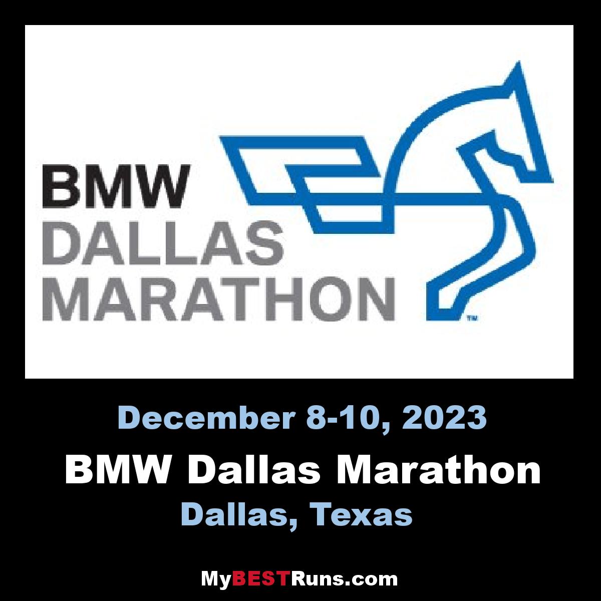 BMW Dallas Marathon - Dallas, Texas - 12/10/2017 - My BEST Runs ...