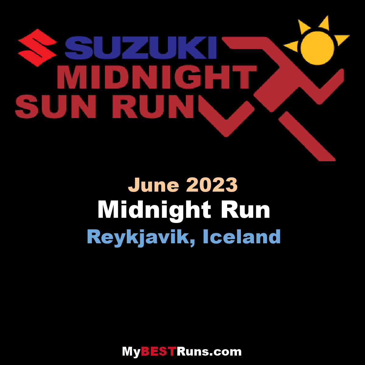 Midnight Run - Reykjavik, Iceland - 6/25/2020 - My BEST Runs