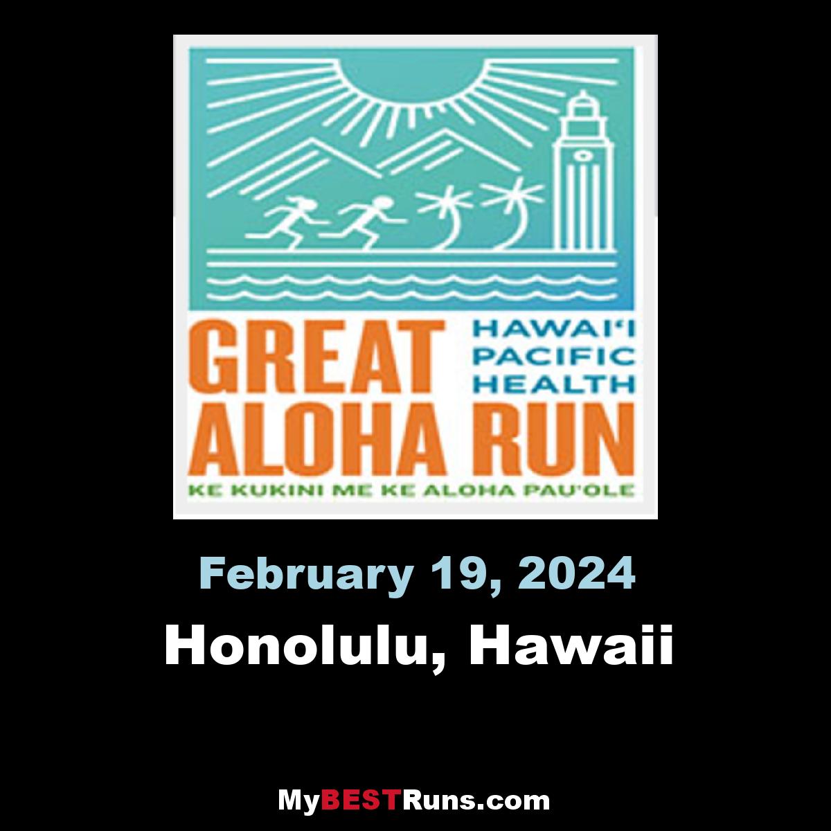 Hawaii Pacific Health Great Aloha Run - Honolulu, Hawaii - 2