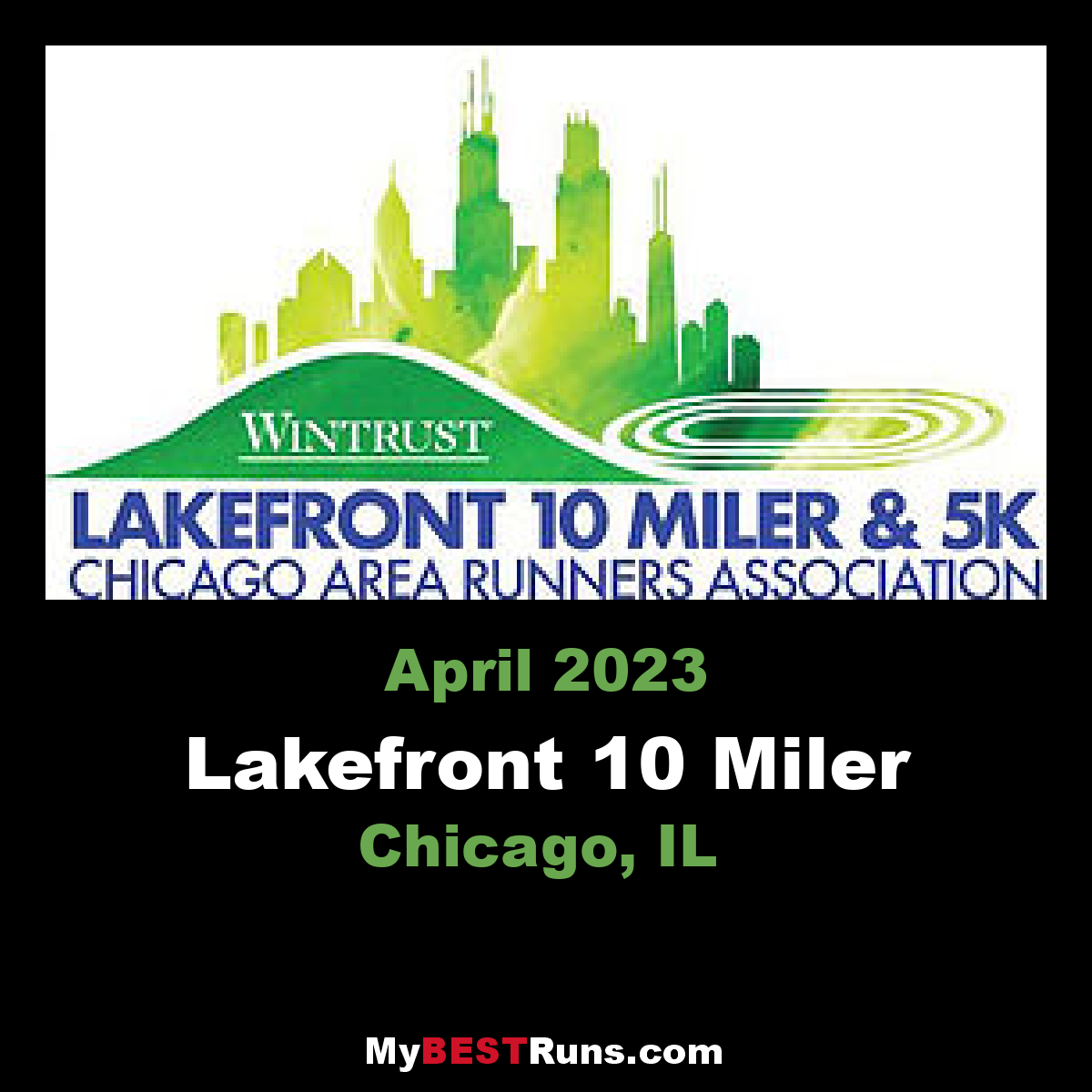 Lakefront 10 Miler - Chicago, IL - 4/18/2020 - My BEST Runs - Worlds