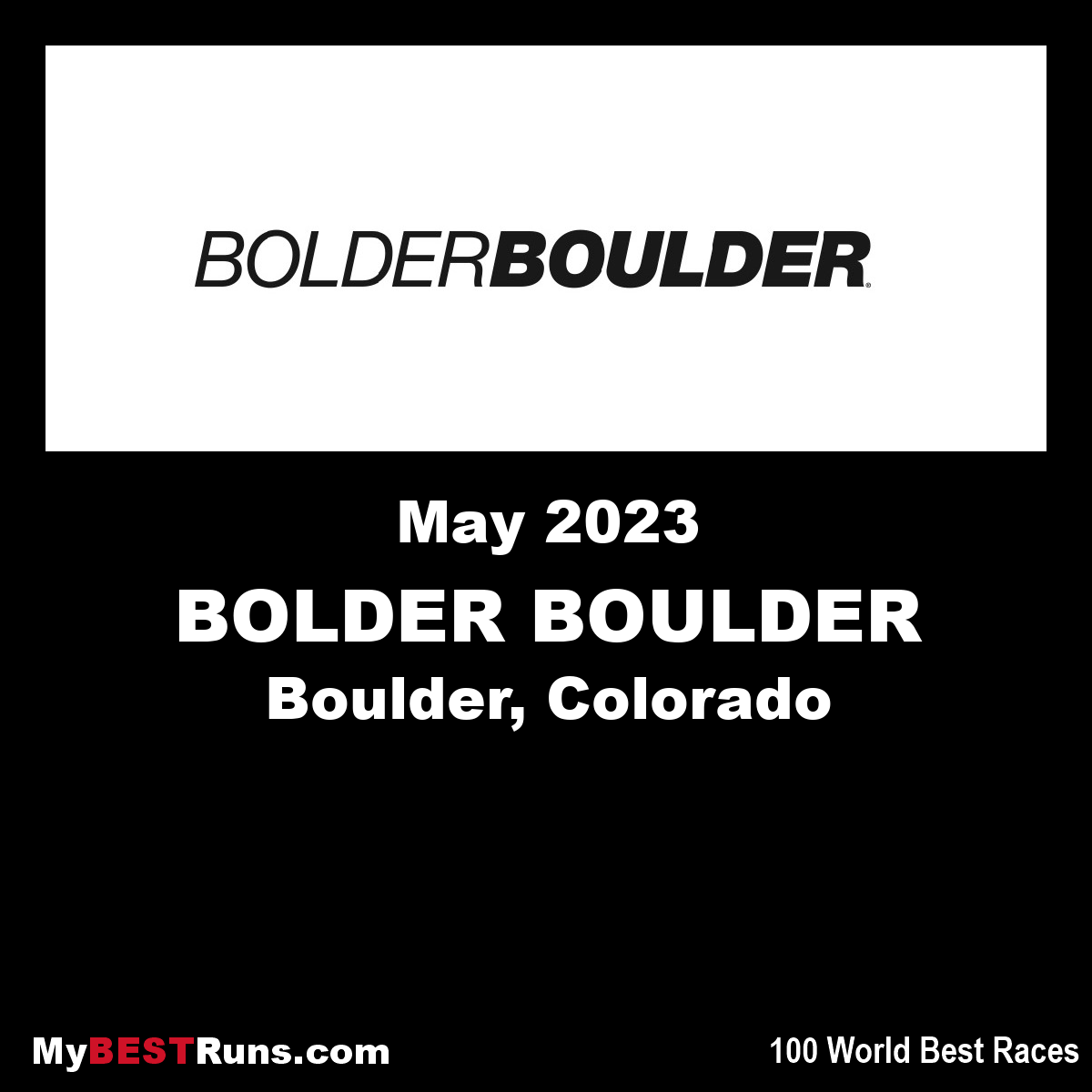 BOLDER BOULDER