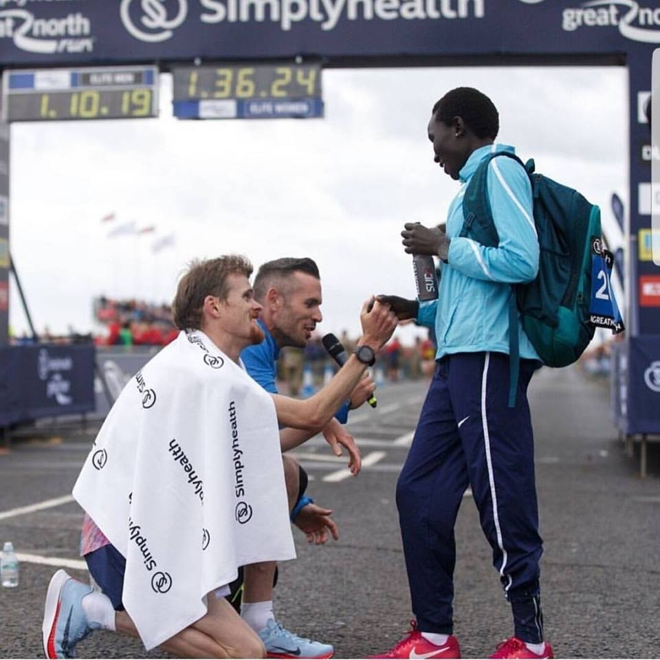 As Jake Robertson was racing Mo Farah he had a random thought, today is the day!