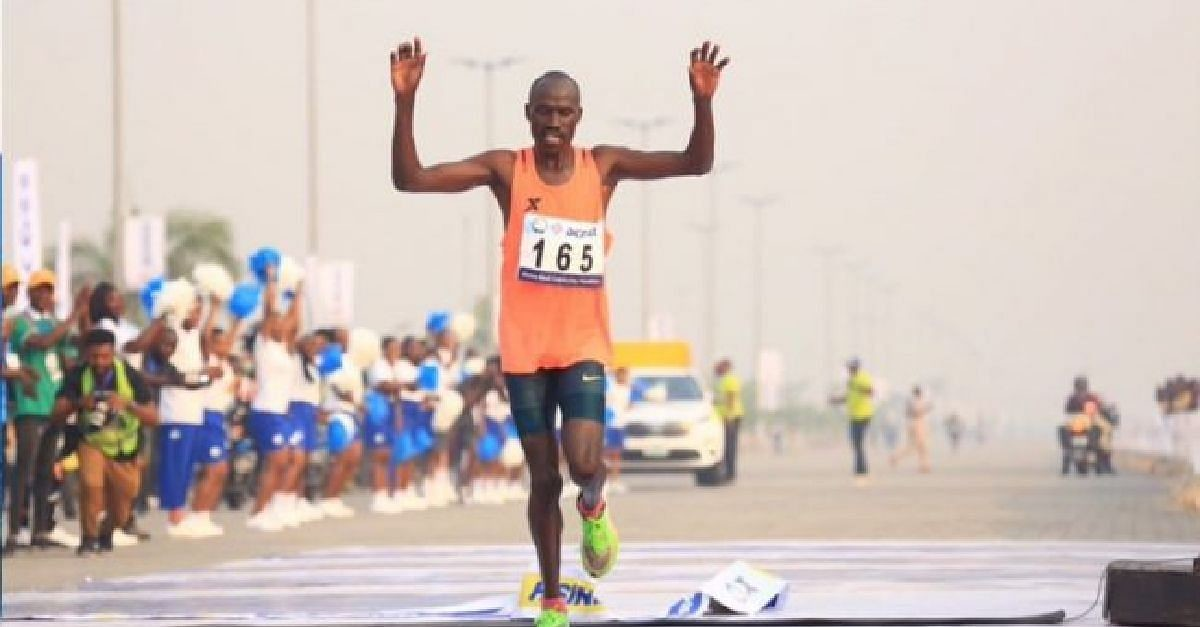 Kenya's David Barmasai Tumo won the 2020 edition of the Lagos Marathon