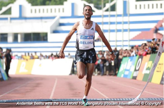 Belihu takes the title at the TCS World 10K in Bengaluru