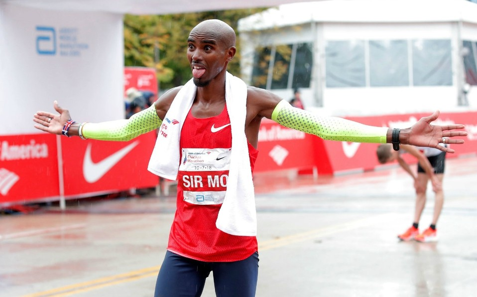 British distance-running great Mo Farah has withdrawn from next month's Big Half race in London with an achilles injury, organizers announced on Wednesday