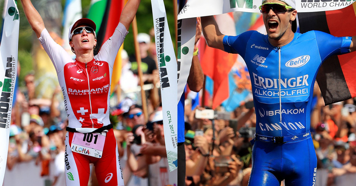 Men's and women's course records were broken at The 2018 Ironman World Championships