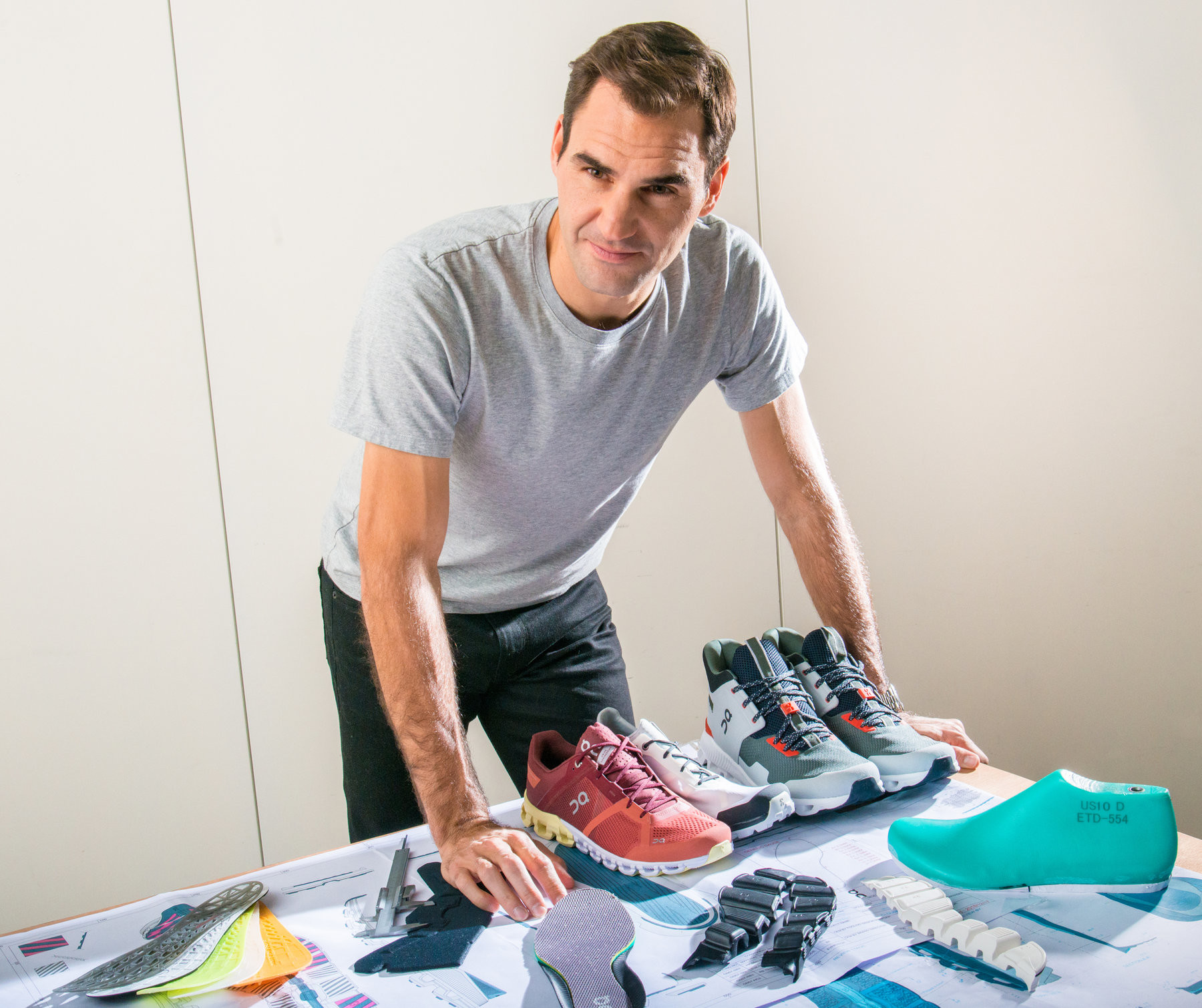 Roger Federer is getting into running shoe design, he has partnered with the Swiss running company On