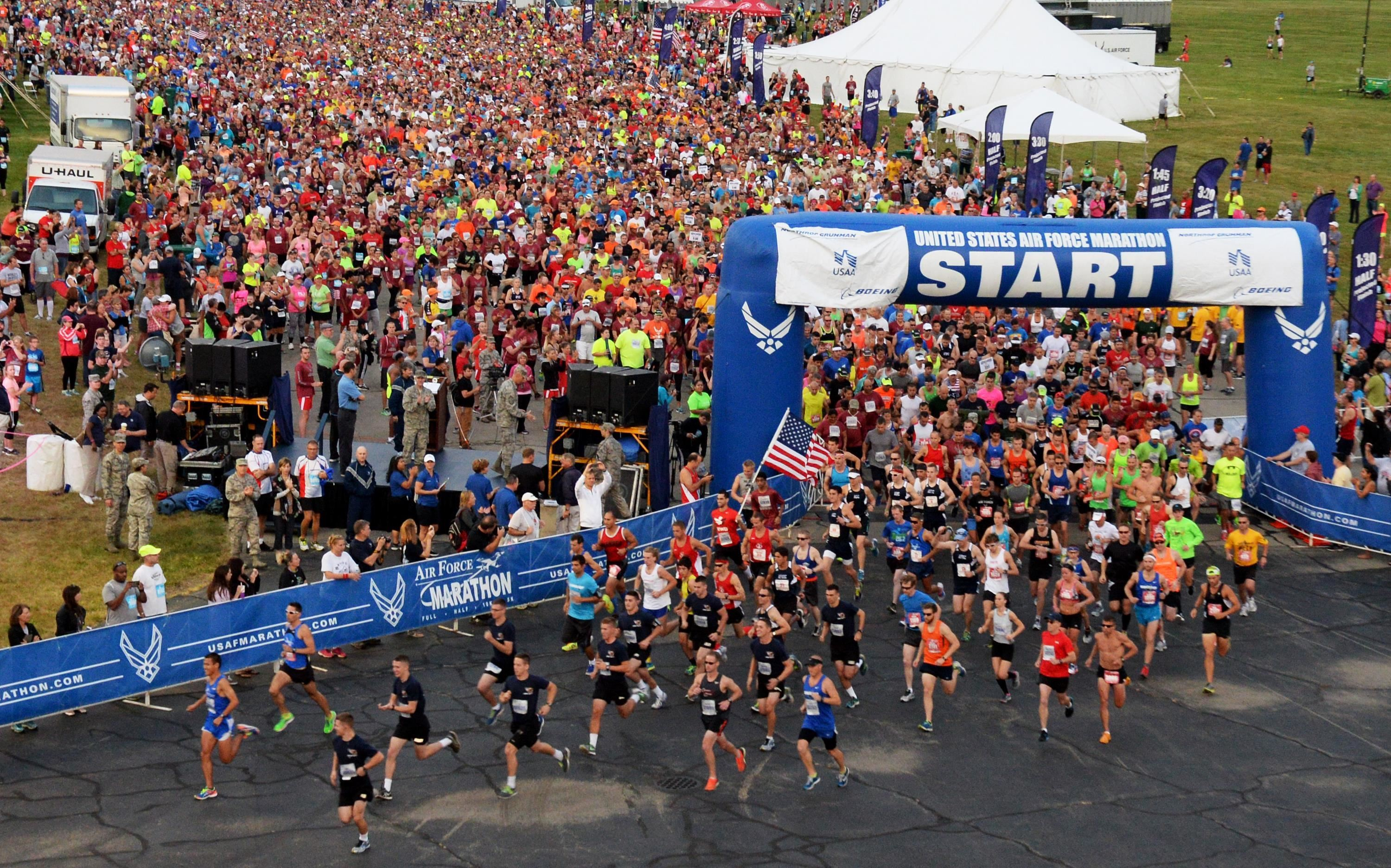 The Air Force Marathon has been cancelled due to the pandemic, race will be held virtually