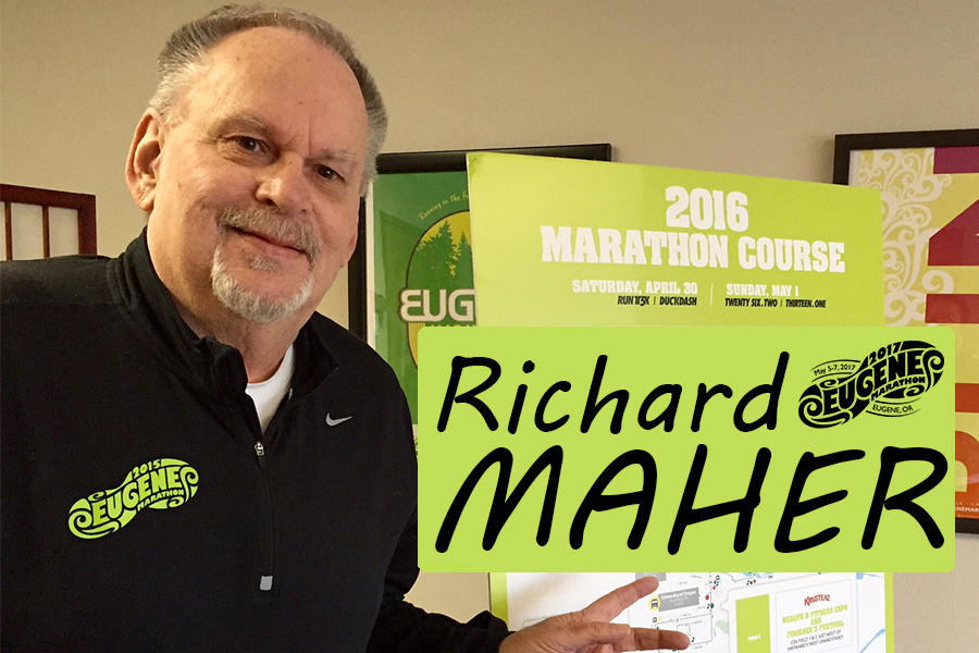 Richard Maher, Race Director of the Eugene Marathon since the event's inception in 2007, is retiring from his position