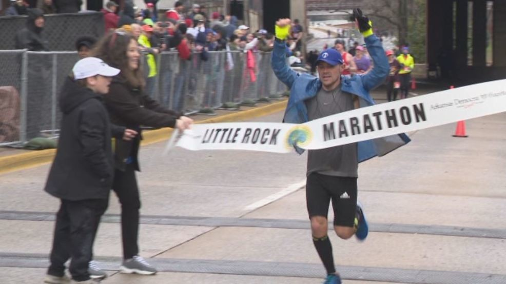 Jeremy Provence, cross country coach at the University of North Alabama, won the Little Rock Marathon clocking 2:42:24