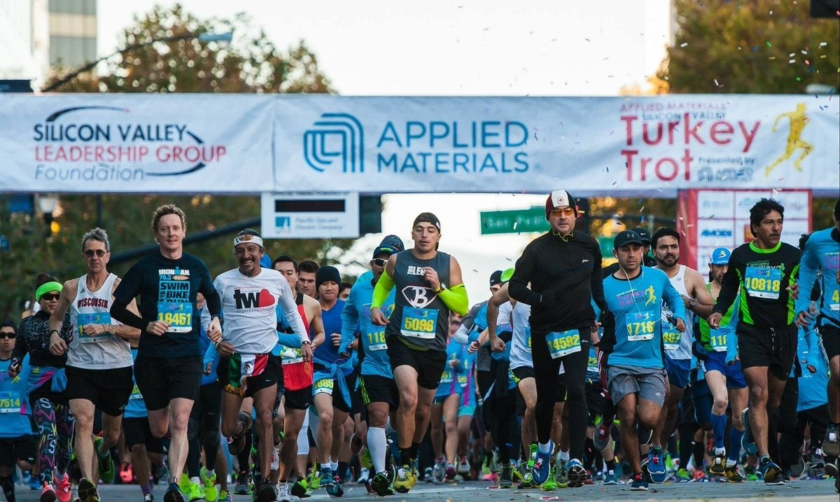 Four Olympians and Top International Competitors will Seek World and American Records at Applied Material Silicon Valley Turkey Trot