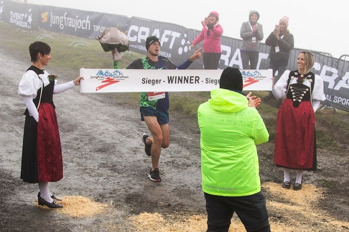Great Britain mountain runner Robbie Simpson again wins the Jungfrau Marathon