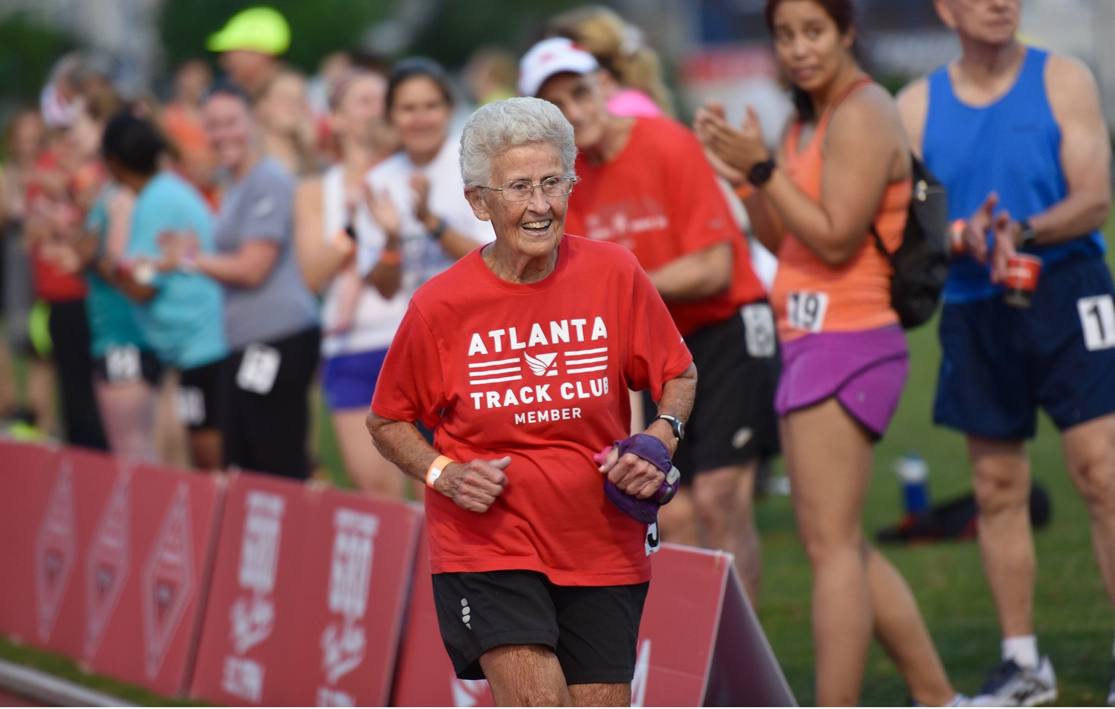 93-year-old Betty Lindberg is running her 28th Peachtree 10K and she just keeps on going