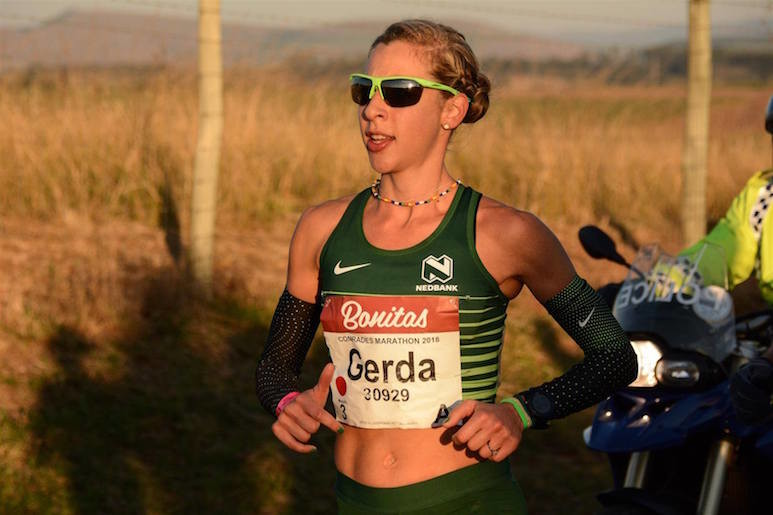 Gerda Steyn is focused to take the title at the 94th Comrades Marathon Sunday