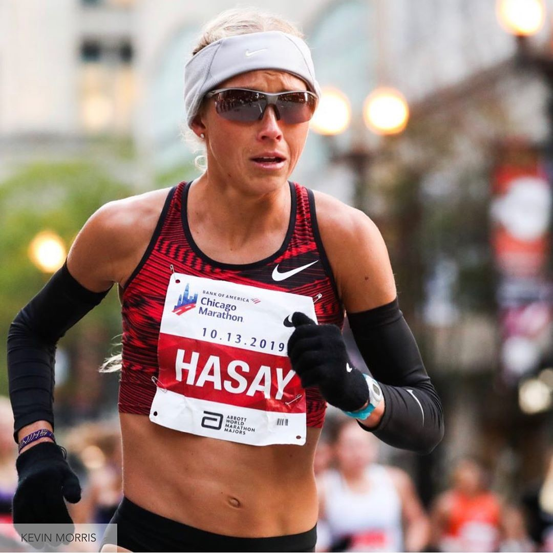 Jordan Hasay suffered an injury during  the Chicago Marathon forcing her to drop out