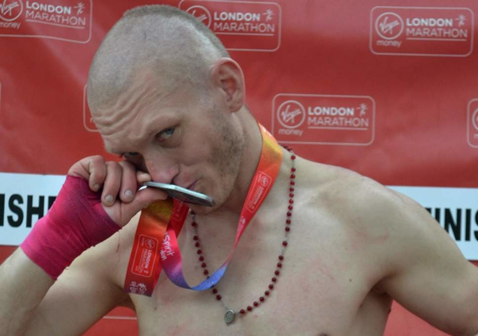 A London Man is facing jail for only running 1000 feet of the London Marathon and taking a finishers medal
