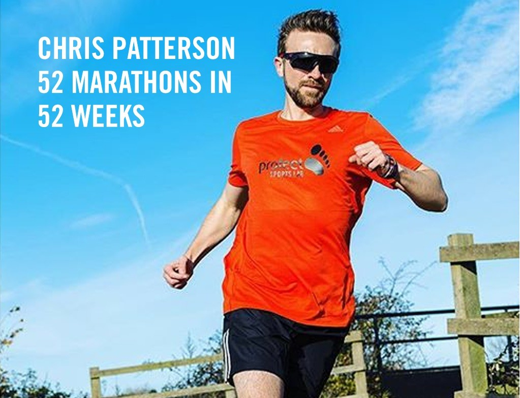 Chris Patterson is running a marathon each week for a year to raise money for Hope For Children