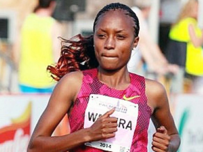 Kenya's Mary Wacera is ready to challenge defending champion  Caroline Chepkoech at Falmouth Road Race