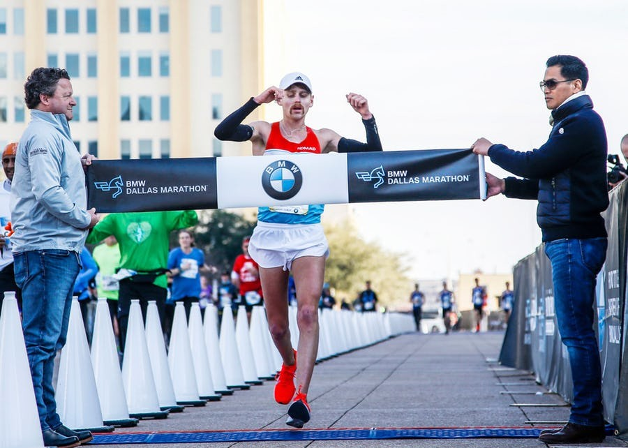Making his debut Colby Mehmen, was the winner at BMW Dallas Marathon