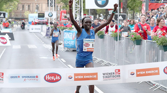 Nancy Kiprop smashes record at Vienna Marathon