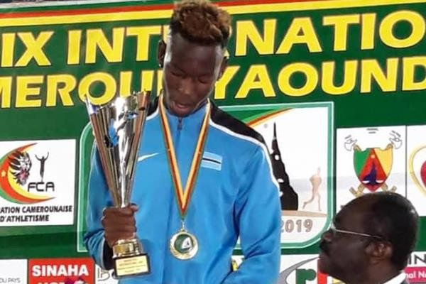Botswana´s Ditiro Nzamani has Doha in his eyes after reaching the qualifying standard at the CAA Yaounde International Grand Prix in Cameroon