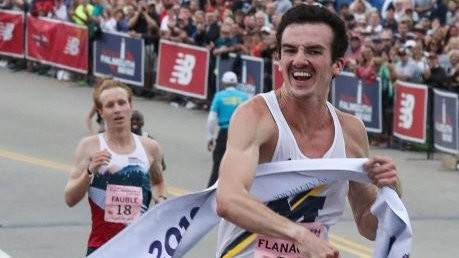 Canadian Ben Flanagan wins debut half-marathon in 1:03:19 one of the fastest times in Canadian history