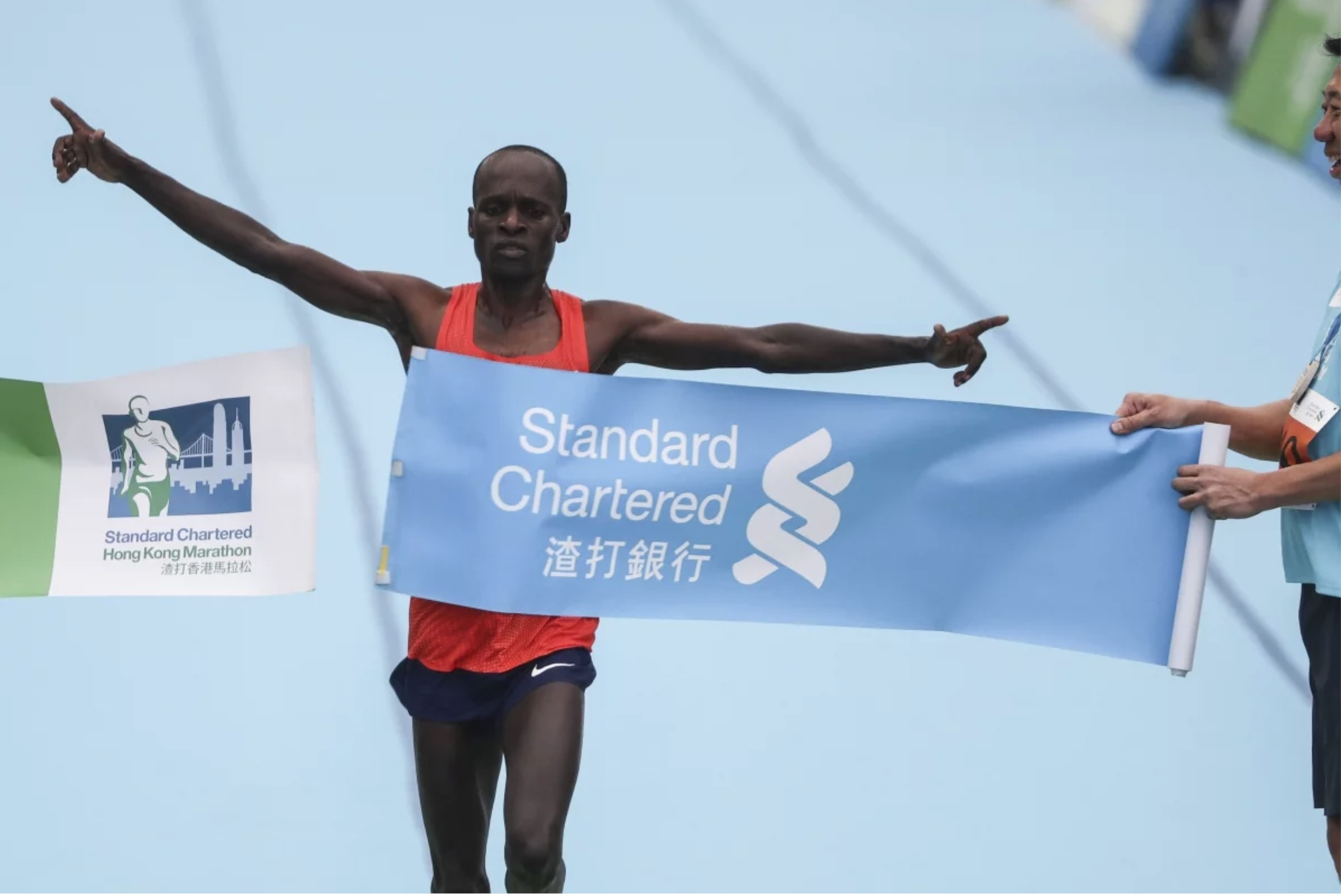 Kenyan Barnabus Kiptum was so far ahead of his rivals that the runner-up thought he had won