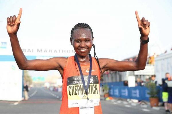 World champions Ruth Chepngetich and Peres 