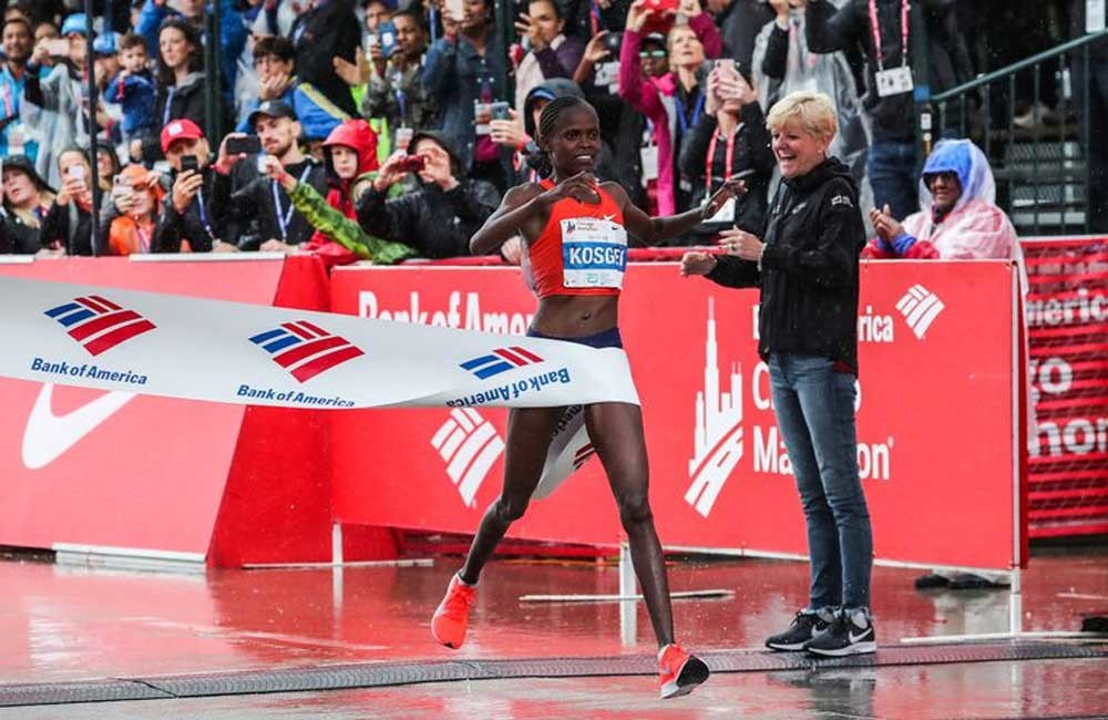 Kenyan Brigid Kosgei has set her sights on a second straight Chicago Marathon title