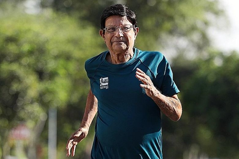 81-year-old C.K. Murthy, will run the Singapore Marathon for the 29th straight year