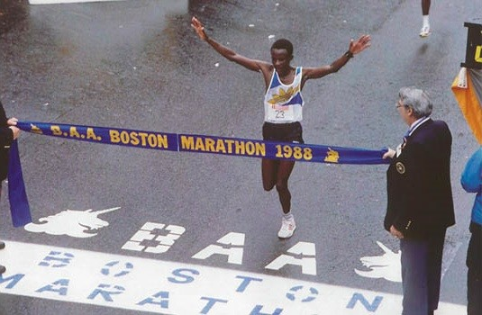 Ibrahim Hussein Kipkemboi, the first African to win the Boston Marathon in 1988, said Kipchoge is in the right frame of mind to achieve his goal