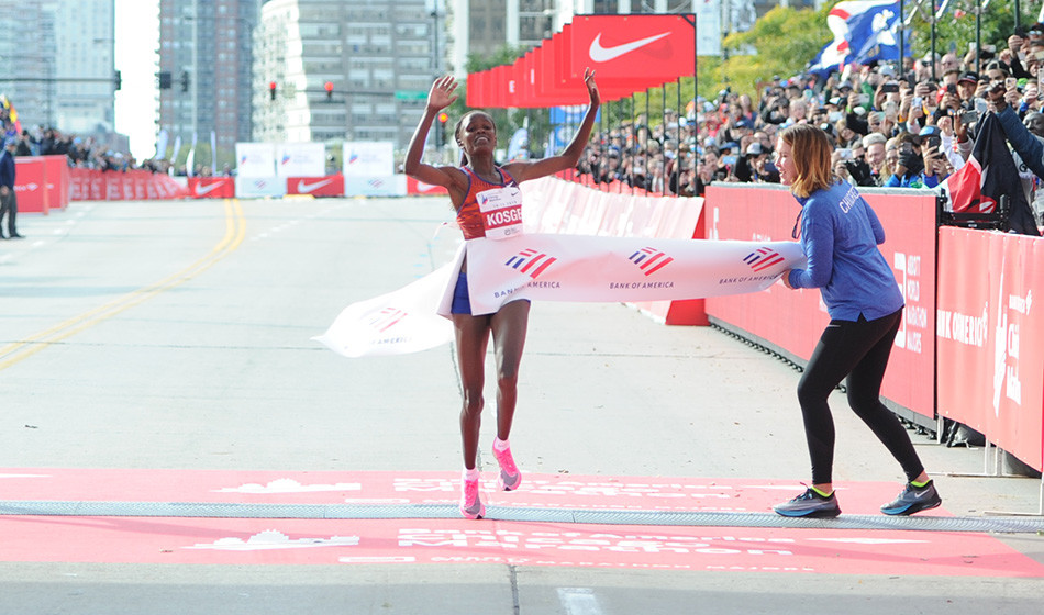 Kenyans Brigid Kosgei and Lawrence Cherono, disappointed after Chicago Marathon cancelled