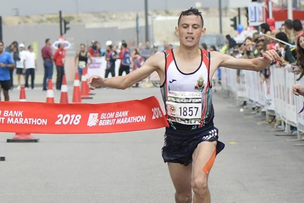 Mohamed Reda El Aaraby of Morocco breaks Men´s course records in Beirut