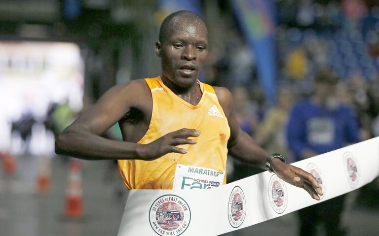 Kenyans have won the last five men's full marathons of the Sanford Fargo Marathon