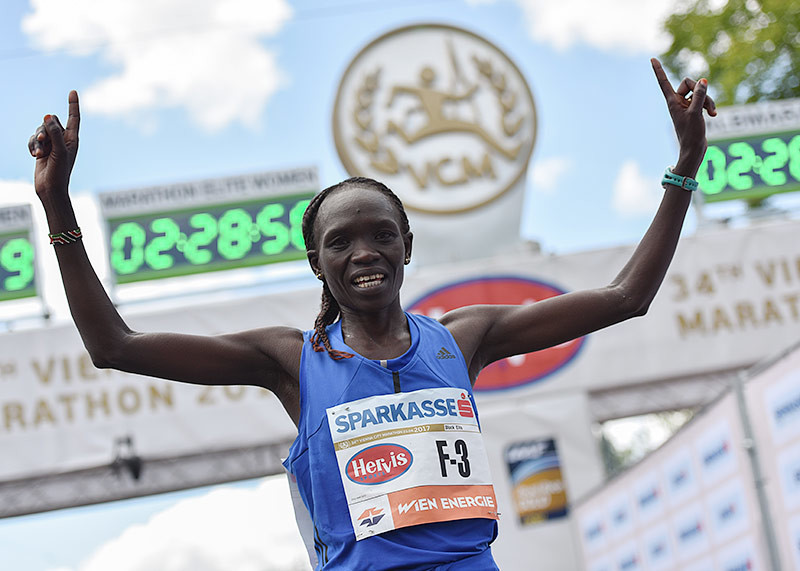 Kenya´s Defending champion Nancy Kiprop heads strong women's field for Vienna Marathon