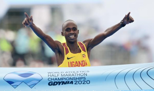 Kiplimo makes history for Uganda at World Athletics Half Marathon Championships Gdynia 2020