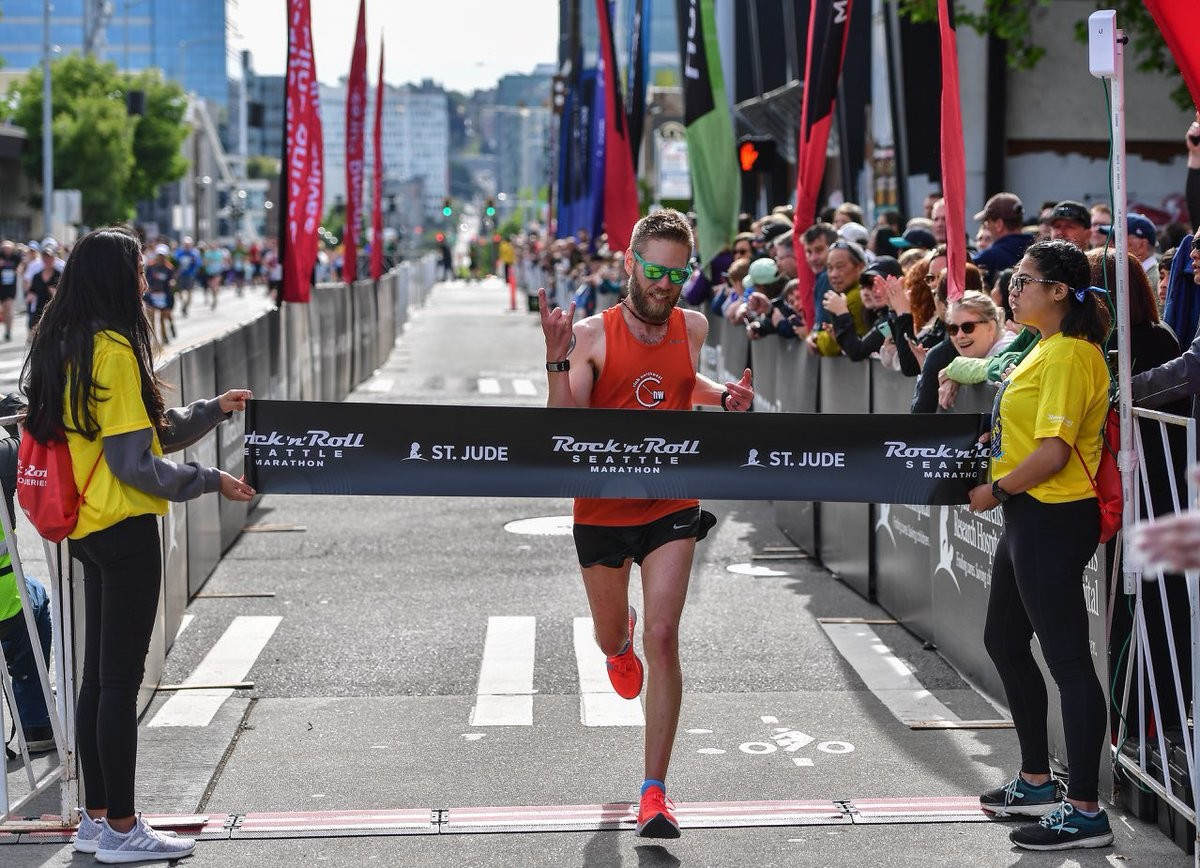 Local runners won the Seattle's Rock N Roll Marathon