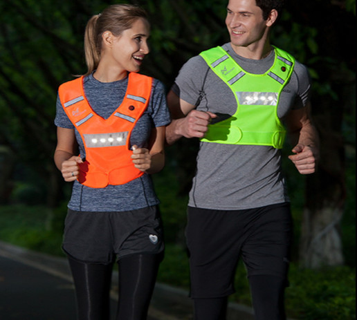 Visibility is the first step in staying safe when you go out for a run alongside traffic