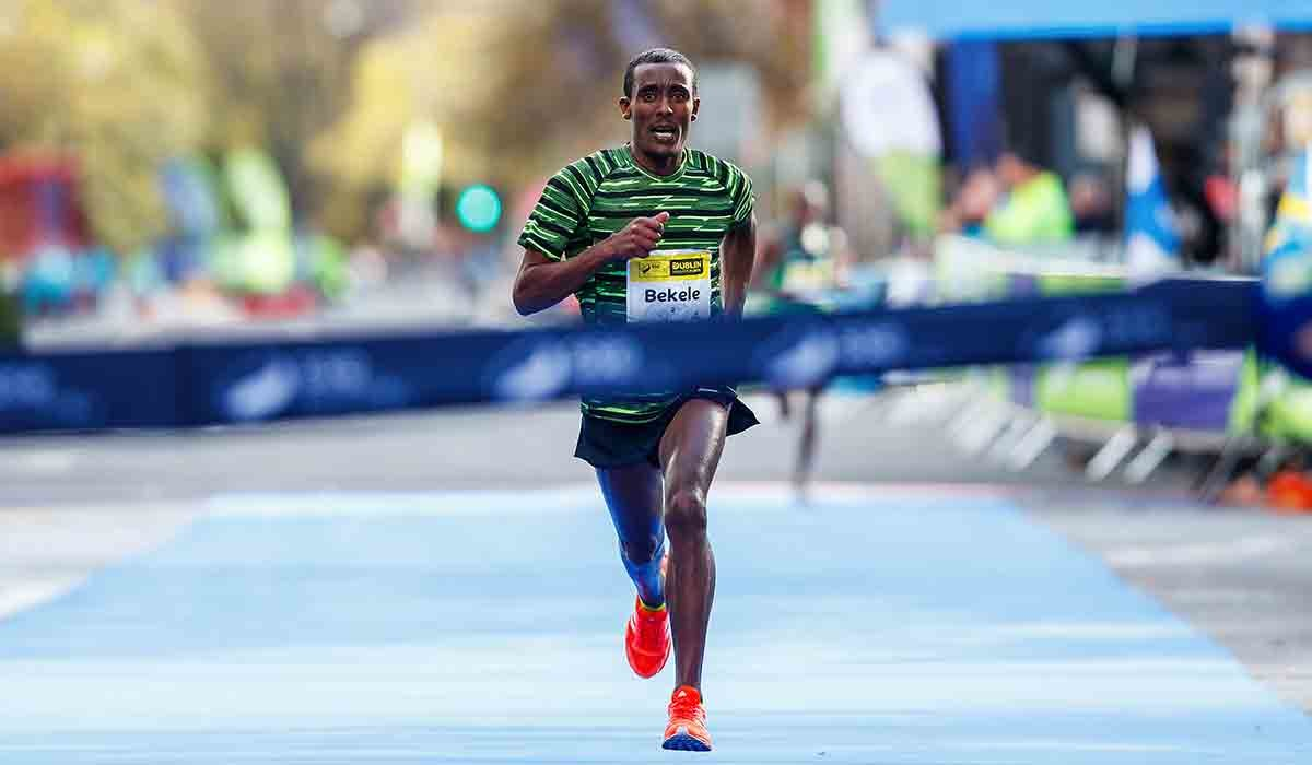Asefa Bekele from Ethiopia  won the 2018 men's Dublin Marathon