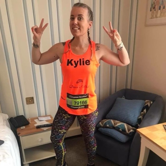 Kylie Osborn is running the Brighton Marathon this weekend to raise money for a charity in memory of her daughter