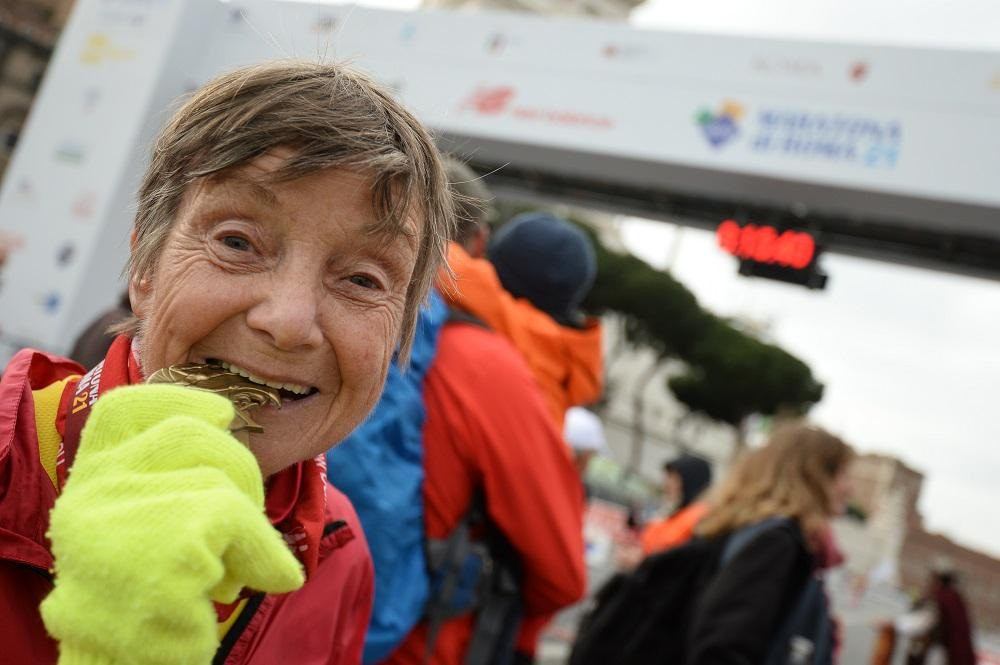 Berlin resident Sigrid Eichner, 79, has run 2,200 marathons and she didn't start running until age 40