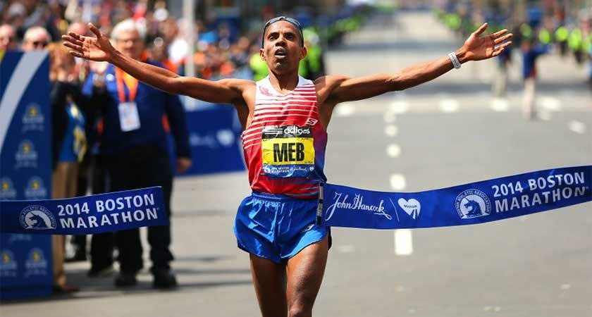 The first American to win Boston since 1983, Meb Keflezighi is running Monday for Team MR8