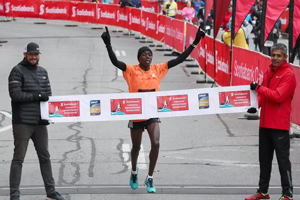 Toronto marathon champion Benson Kipruto targets medal at rescheduled Boston marathon