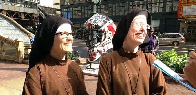 Nuns Stephanie Baliga and Alicia Torres are set to run Chicago Marathon to raise money to help the poor in West Humboldt Park