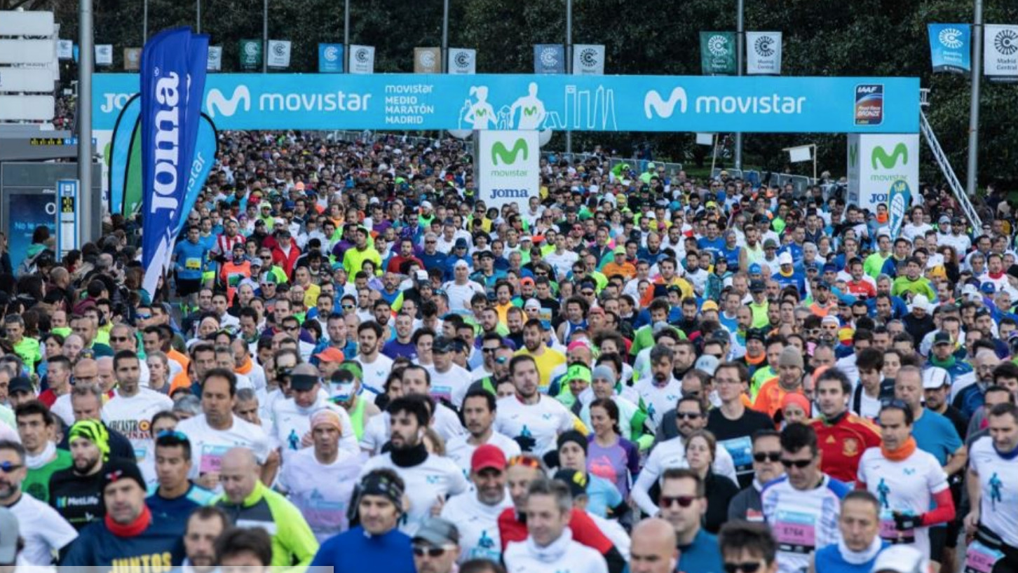 Course record fill at the Madrid Half Marathon Sunday