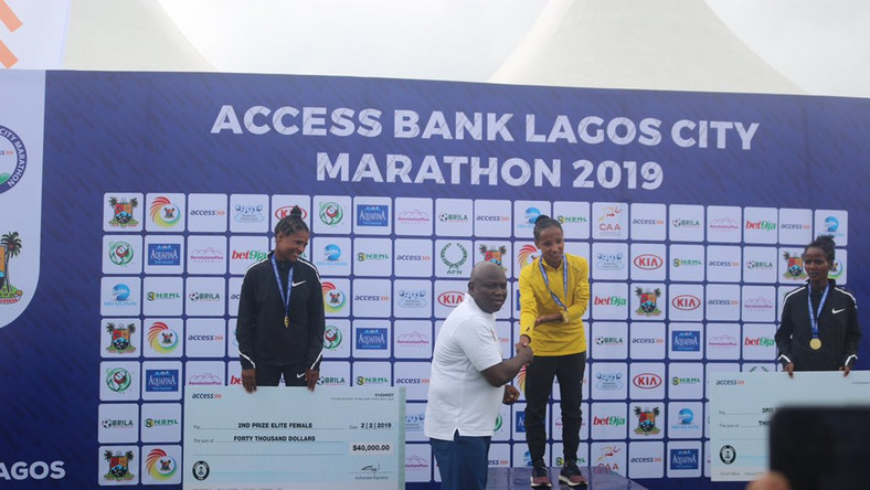Ethiopians were the big  winners at the Lagos City Marathon today