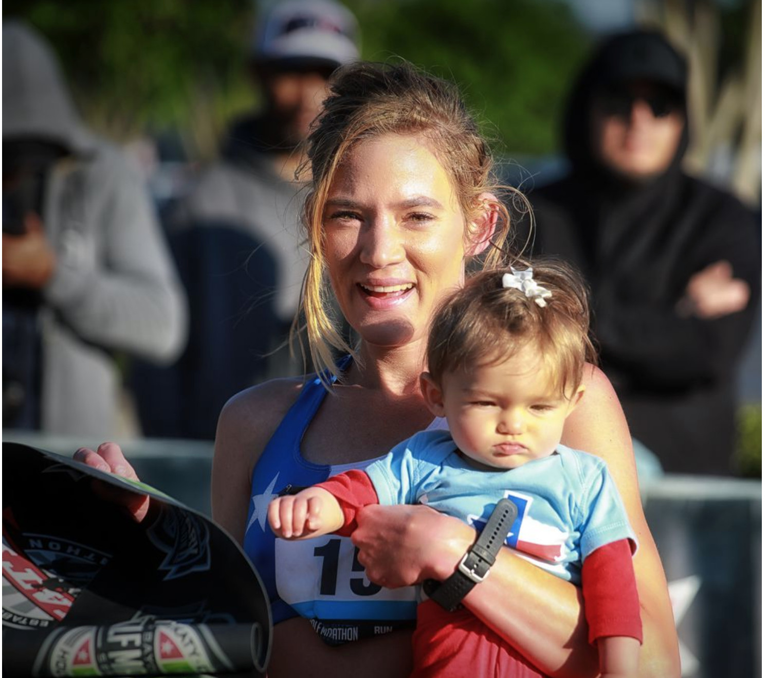 Mom and 8-Month-Old Daughter Shatter Stroller Half Marathon Record a few weeks ago