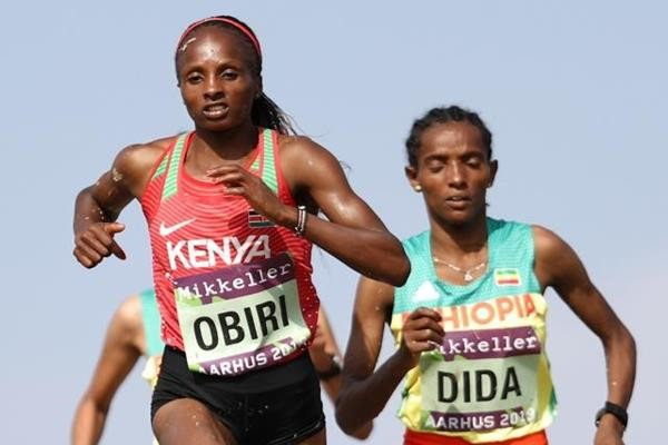 Hellen Obiri wins at the IAAF/Mikkeller World Cross Country Championships Aarhus