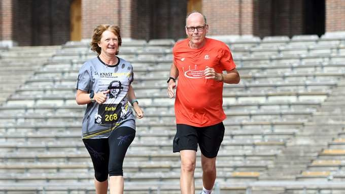 Barbro and Jan will celebrate their wedding anniversary running the stockholm marathon